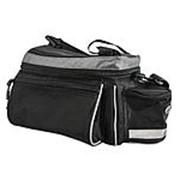 Сумка на багажник A-N216 с плечевым ремнем V=7-9л 28 x14 x17см черная AUTHOR фото