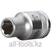 Торцовая головка Kraftool Industrie Qualitat , Cr-V, Super-Lock , хромосатинированная, 1/2, 22 мм Код:27801-22_z01 фото