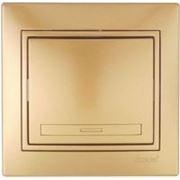 Lezard 701-1313-100 Выключатель металлик золото одинарный фото
