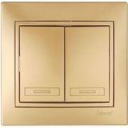 Lezard 701-1313-101 Выключатель 2-ой металлик золото фото