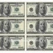 """Вафельная картинка """"Доллары """" фото"""