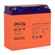 Delta HR 12-18 Батарея Battary replacement APC RBC7,RBC11,RBC55, 12В, 18Ач, 181мм/167мм/77мм