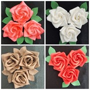 Сахарный декор Букет роз фото