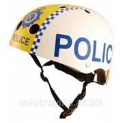 Шлем детский Kiddi Moto полиция, белый HEL-58-35 фото