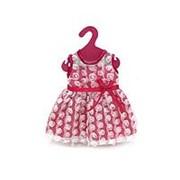 Не указан Одежда для кукол: платье с гипюром (розовый цвет), 25,5x36x1см (GCM18-9) фото