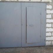 Ворота гаражные металлические фото