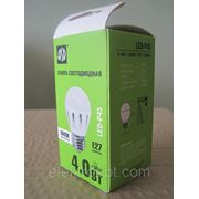 Лампа ASD светод. LED-P45 4.0Вт 220В Е27 3000К 300Лм фото