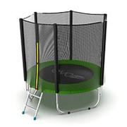 Батут с внешней сеткой и лестницей EVO Jump External 6ft (Green) фото