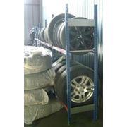 Балочные стеллажи СтУ для хранения шин, колёс и дисков фото