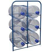 Стеллаж для хранения воды на 6 бутылей фото