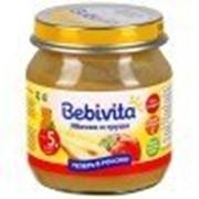 Пюре Bebivita Яблоко и груша, с 5 мес 100 гр фото