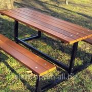 Стол со скамейками Модель П27 фото