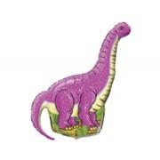 Шар фольгированный Ф М Фигура 3 Динозавр розовый FM фото