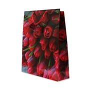 """Пакет подарочный ламинированный """"Чудесный букет тюльпанов"""", 32х10х45см (MILAND) фото"""