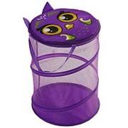 Корзина для игрушек Сова с ручками и крышкой 33х43см 2951948 фото