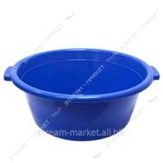 Таз полиэтиленовый для пищевых продуктов 18л круглый цветной Горизонт №438365 фото