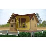 Дом из бруса Проект №12 (7х8 с крыльцом) фото