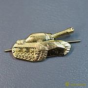 Эмблема петличная металическая Танковые войска н/о, золото правая ФМ-321-1 фото