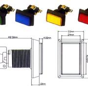 PB-07 Кнопка прямоугольная с микропереключателем и лампочкой фото