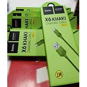 Кбель HOCO micro USB зеленый фото