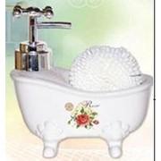 Диспенсер для мыла с губкой 14*8*13см . 51020 фото