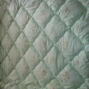 Одеяло бамбуковое 400 гр зимнее в 100% хлопке - тике фото