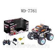 Машина р/у 7-ми канальная, с аккумулятором, зарядным устройством, световые и звуковые эффекты, 31,3х19,5х19,5см, пластмасса (825263) фото