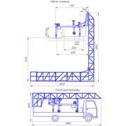 Платформа для строительства и ремонта мостов с увеличенным просветом для высокого барьерного ограждения ПГММ7 – ПВ. фото
