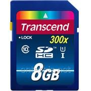 Карта памяти Transcend SDHC 8GB Class 10 UHS-I Premium X300 (TS8GSDU1), код 71698 фото