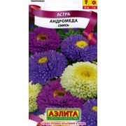 Семена цветов Астра Андромеда, смесь фото
