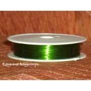 Зеленая проволока 0,3 мм фото