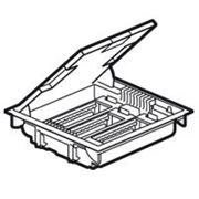 Legrand 89610 Коробка напольная 18 модулей с регулируемой глубиной 75-105 мм, серая/крышка из стали с антикоррозионным покрытием фото