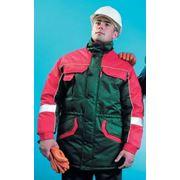 Куртка утепленная ЛЕГЕНДА зеленая с красным фото