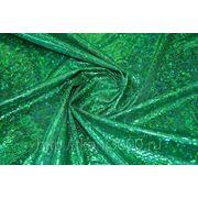 Парча голограмма зеленая фото
