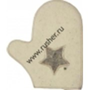 Варежка Звезда белый фото