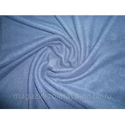 Ткань Флис синий фото