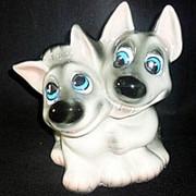 Копилка гладкая Друзья собаки 22x24x16см фото
