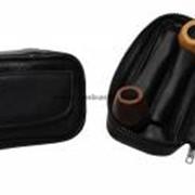 Кожаная сумка для пары трубок фото