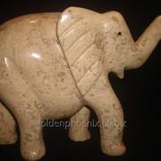 Статуэтка Слон из яшми (16х16.5 см.) фото
