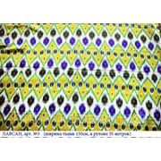 Искусственный шелк с узбекским орнаментом, Лавсан №3 фото