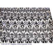 Искусственный шелк с узбекским орнаментом, Лавсан №7 фото