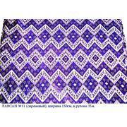Искусственный шелк с узбекским орнаментом, Лавсан №11 фото