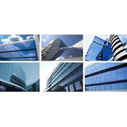 Остекление фасадов большими стеклопакетами фото