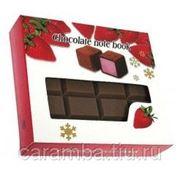 """Блокнот """"Шоколад"""", темно-коричневый фото"""