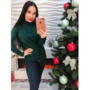 Женский стильный и теплый ажурный свитер, в расцветках фото