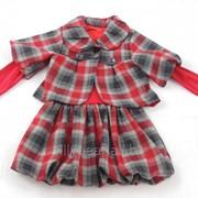 Теплый детский костюм для девочек Агнес 110, арт. 155067362 фото