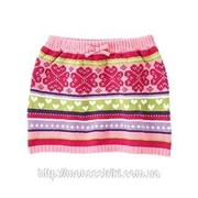 Теплая вязаная юбка для девочки 18-24 месяца фото