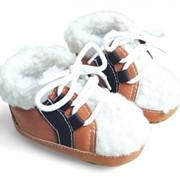 Зимние коричневые ботинки Mothercare фото