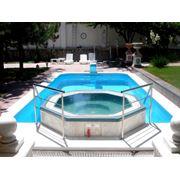 бассейн из полипропилена с Джакузи фото