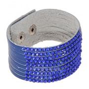 Браслет Дискотека переплет, 9 нитей цвет синий фото